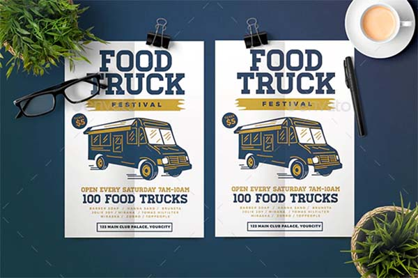 Creative Food Truck Flyer Template