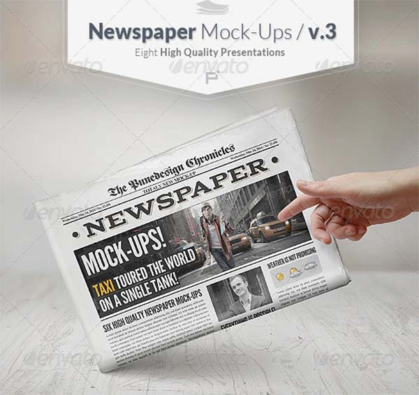 Creative Newspaper Mock-Ups