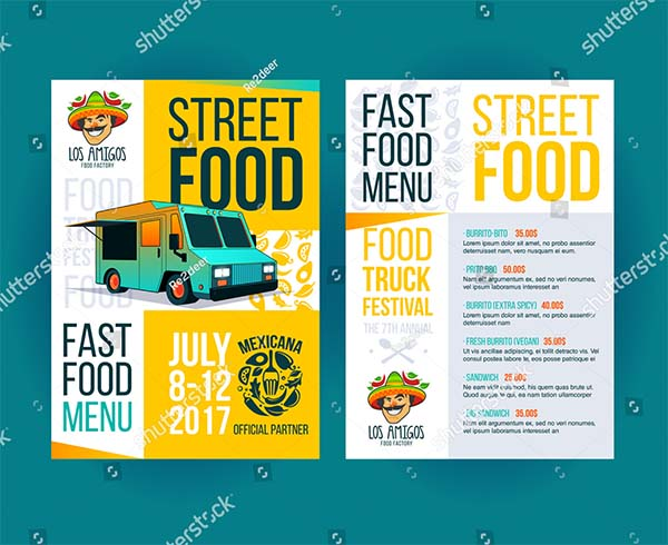 Creative Party Invitation Food Truck Flyer