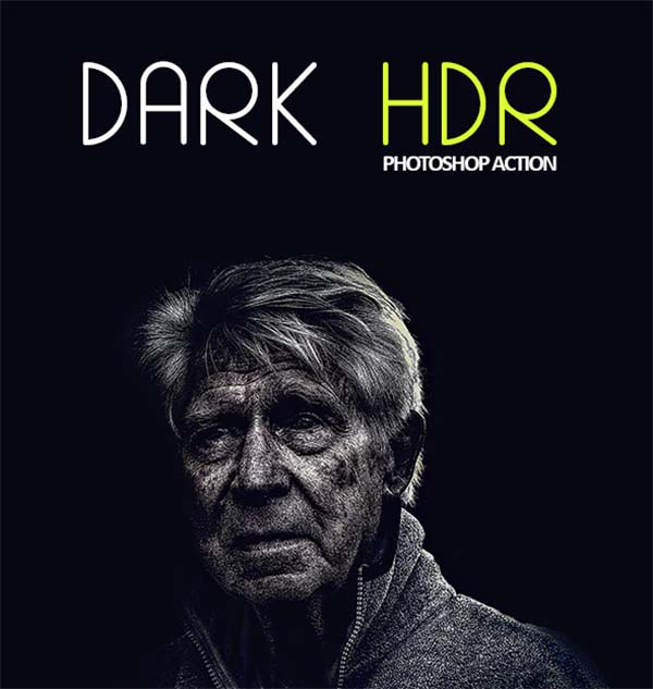 Dark HDR PSD Actions