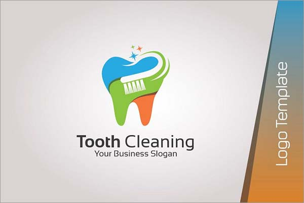 Dental Cleaning Logo Template
