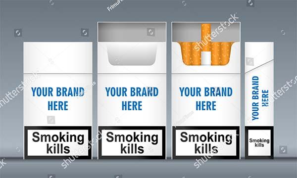 Digital Vector White Cigarette Pack Mockup