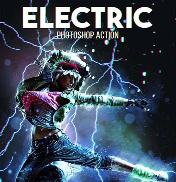 Electric TIFF, PSD, JPG, RAW Action