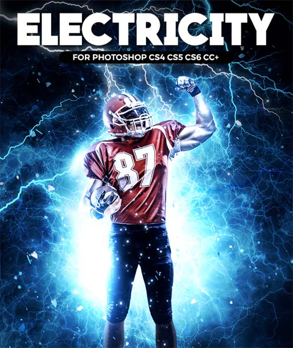 Electricity Photoshop, ABR Action