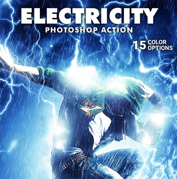 Electricity Photoshop, ATN Action