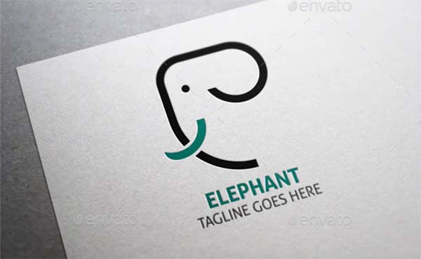 Elephant Clean Logo Design