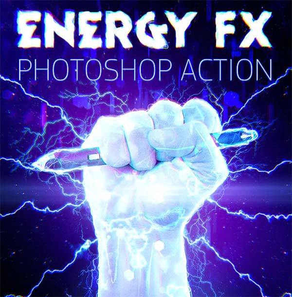 Energy FX Electricity Photoshop Action