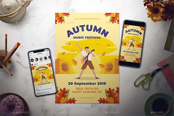 Fall Music Flyer Set