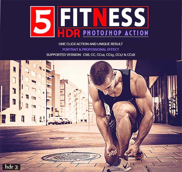 HDR Photoshop Fitness Actions