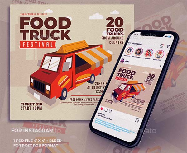 Food Truck Festival Flyer Template