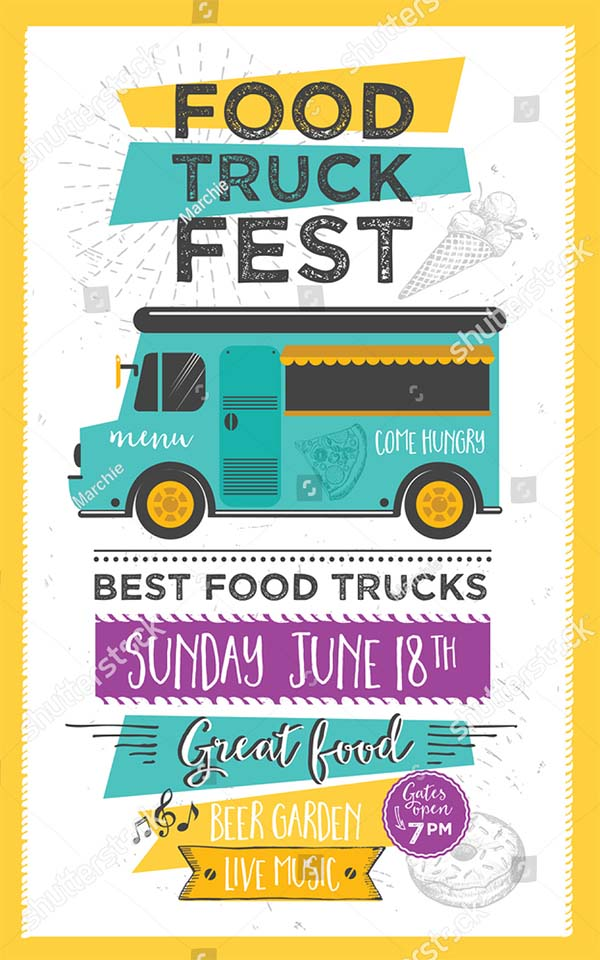 Food Truck Festival Menu Food Flyer
