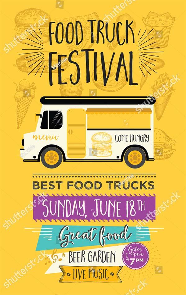 Food Truck Festival Truck Flyer
