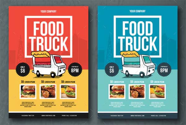 Food Truck Flyer Design