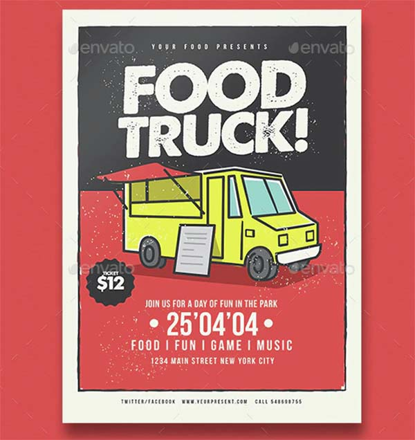 Food Truck Flyer Template