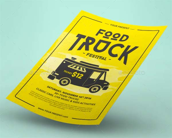 Food Truck Flyer and Poster Template
