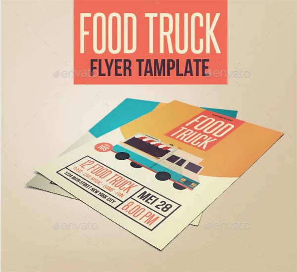 Food Truck Modern Flyer Template