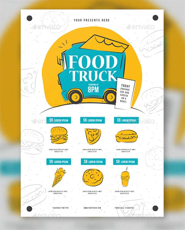 Food Truck Photoshop Flyer Template