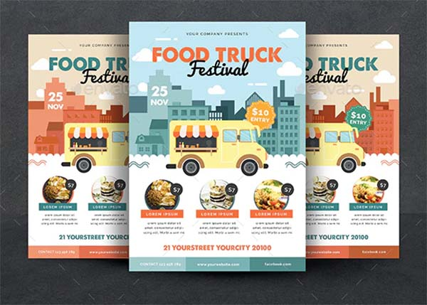 Food Truck Promotion Flyer Template
