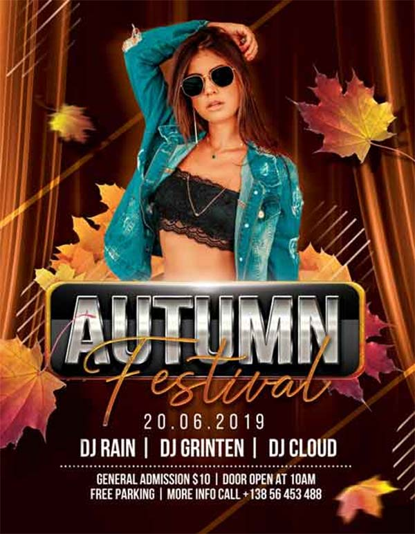 Free Autumn Party Flyer Template