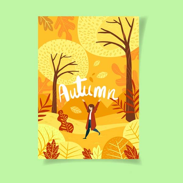 Free Autumn Poster Template