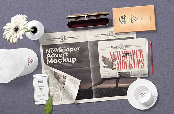 Free Best Newspaper Mockup PSD
