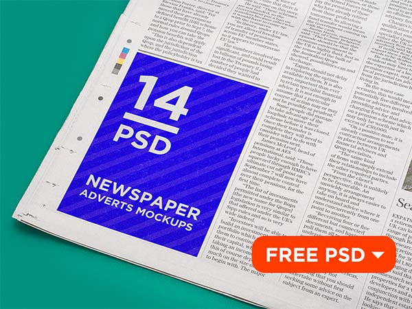 Free Customizable Newspaper Advertising Mockup