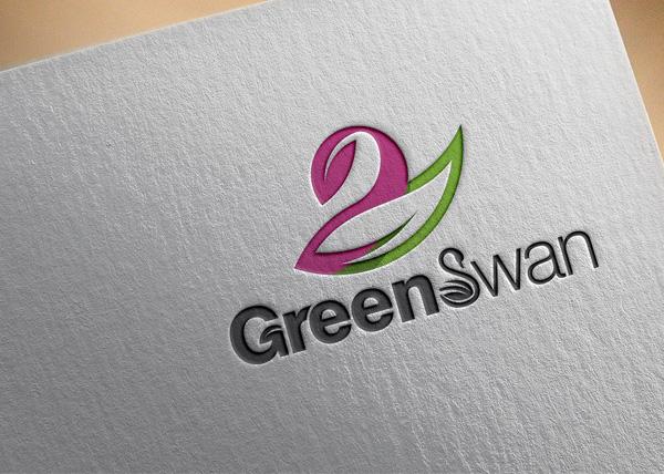 Free Green Swan Logo Design