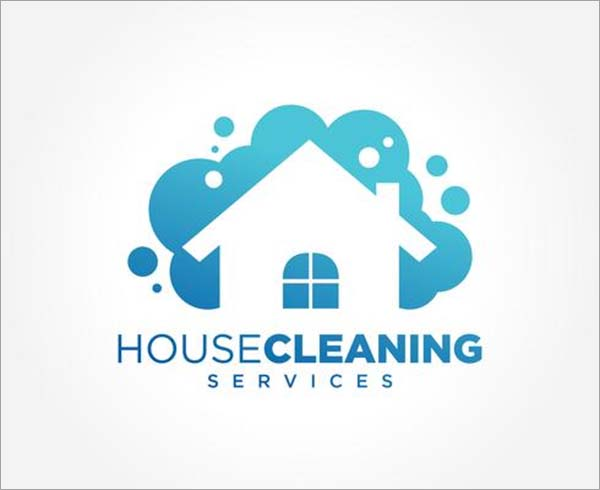 Free House Cleaning Business Logo Design