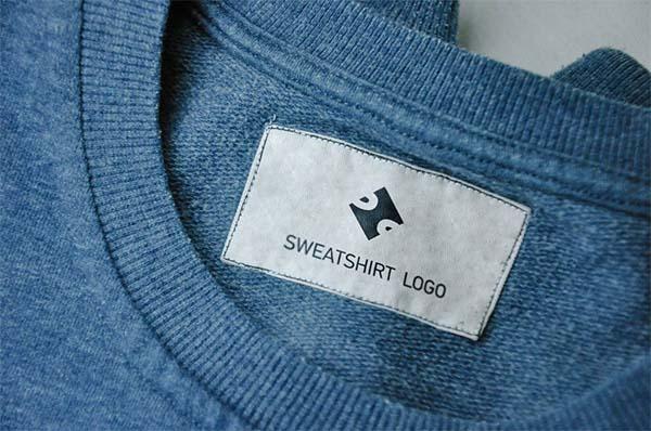 Free Jeans and Sweatshirt Label Mockups