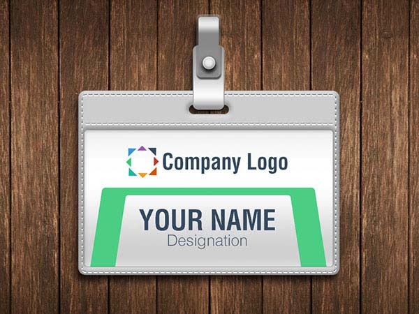 Free Name ID Card Vector Mockup