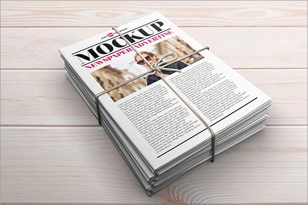 Free Newspaper Advert Mockup in PSD