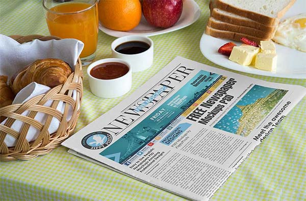 Free Newspaper Mock-up