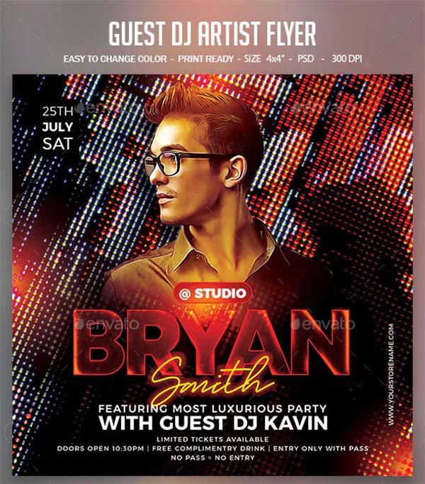 Guest DJ Artist Flyer Design PSD