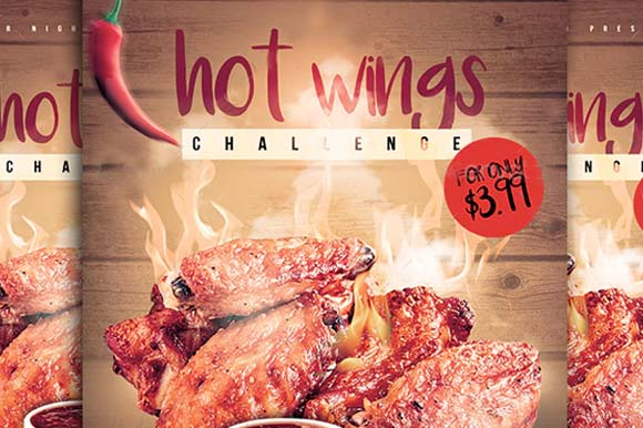 Hot Wings Flyer Templates