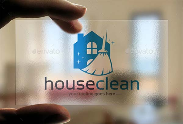 House Cleaning Logo Template Design