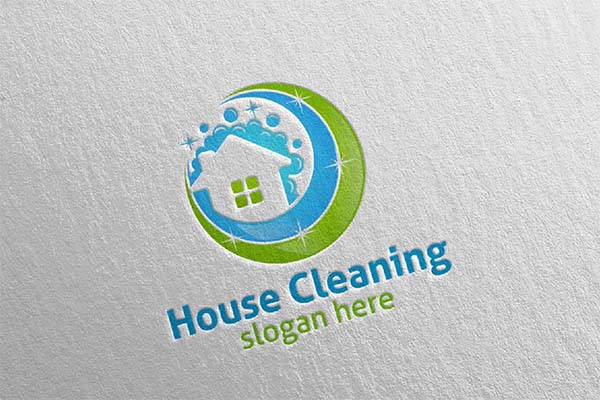 House Cleaning Service Vector Logo