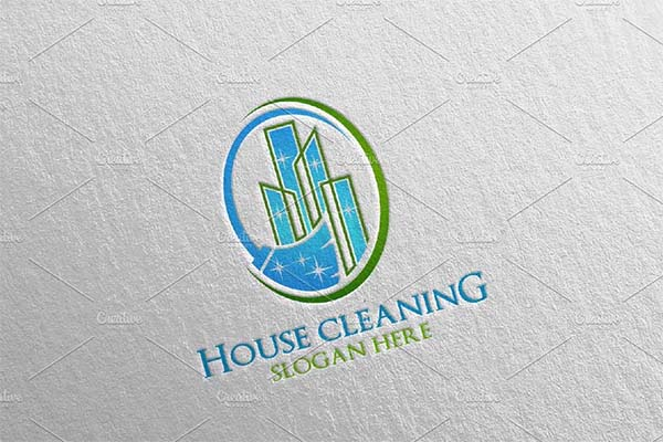 House Cleaning Services Vector Logo