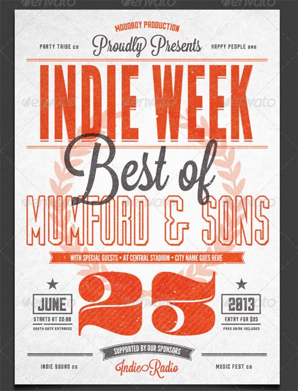 Indie Vintage Flyer and Poster Template