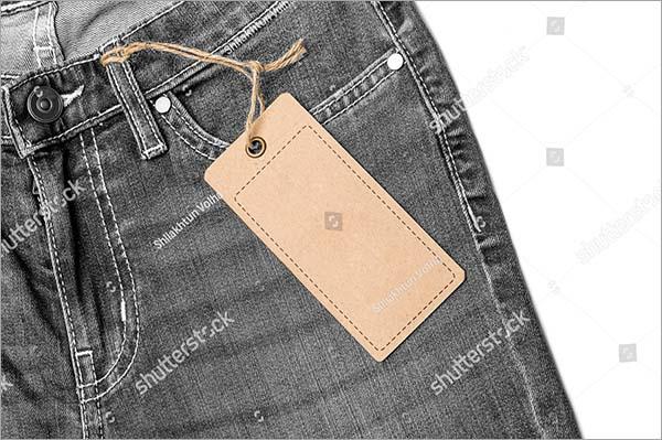 Jeans Label Price Tag Mockup