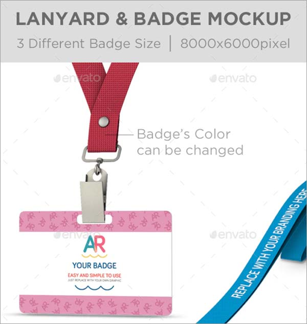 Lanyard Name Badge Mockup