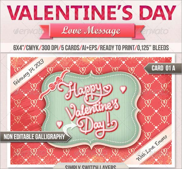 Love Message Valentine's Day Greeting Card