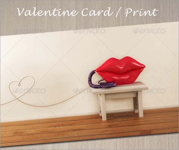 Love Retro Phone Valentine Greeting Card