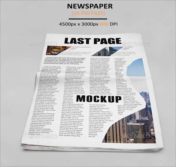 Media Newspaper Mockup