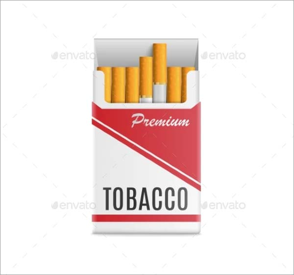 Mockup Realistic Pack of Cigarettes Vector