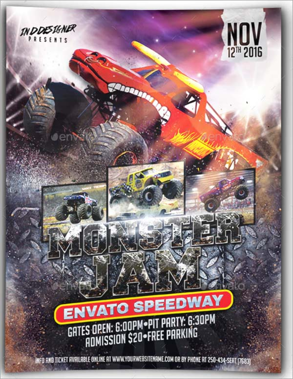 Monster Truck Flyer Template