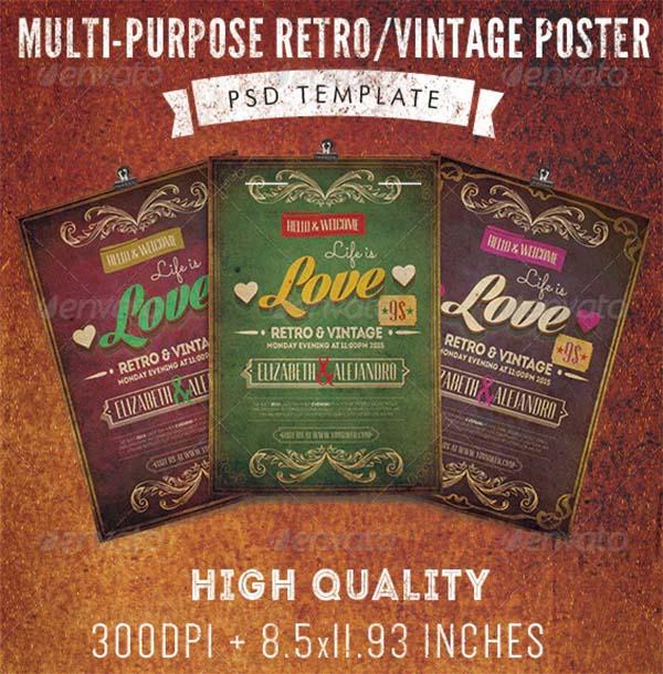 Multi-Purpose Retro Vintage Poster