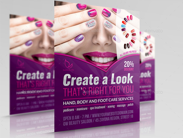 Nails Salon Flyer Template