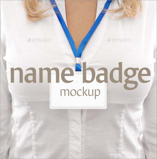 Name Badge Mockups