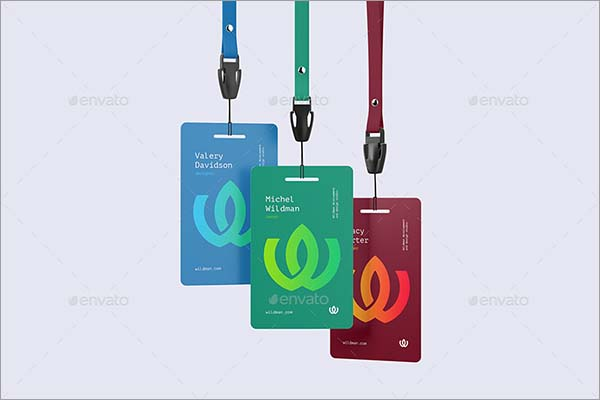 Name Badge PSD Mock-up