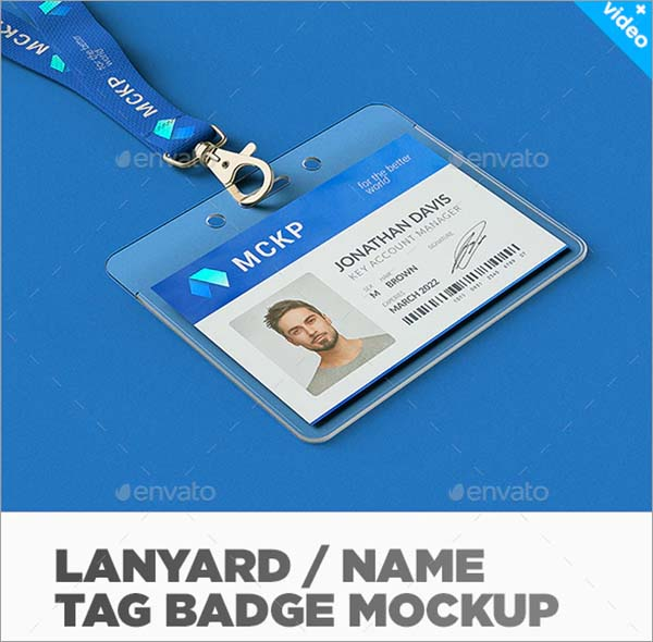 Name Tag Badge Mockup